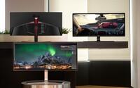 LG ukázalo čerstvú trojicu špičkových monitorov. Nechýba im USB Type-C, zaoblenie a ani vysoké rozlíšenie