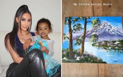 Lidé se pustili do Kim Kardashian, když zveřejnila obraz, který prý namalovala její dcera. Nevěřili, že to dokázalo dítě