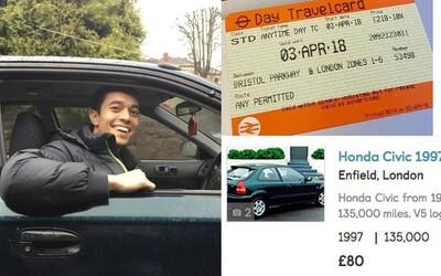 Lístek na vlak byl tak drahý, že si na 160kilometrovou cestu koupil ojeté auto a ušetřil. V ideálním případě skončí dokonce v plusu