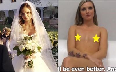 Lucia zo Svadby na prvý pohľad, ktorá natočila porno, ležala po pár dňoch manželstva polonahá pri inom chlapovi