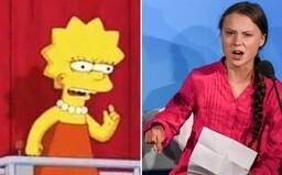 Ľudia na sociálnych sieťach tvrdia, že Simpsonovci opäť predpovedali budúcnosť. Tentokrát v spojení s Gretou Thunberg