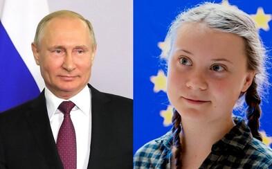 Lidé na Twitteru říkají, že Greta Thunberg pracuje pro Rusko, či dokonce, že je Putinovou dcerou. Důvodem je jejich podoba
