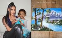 Ľudia sa pustili do Kim Kardashian, keď zverejnila obraz, ktorý vraj namaľovala jej dcéra. Neverili, že to dokázalo dieťa