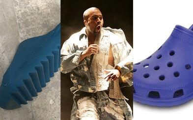 Lidé se vysmívají novým Yeezy pantoflím. Kanye West se z nich na internetu radoval, ale fanouškové nechápou, kde nechal oči