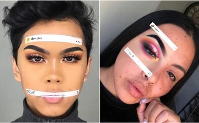 Ľudia si líčia len časť tváre, ktorú zarámujú do Instagramového príspevku. Najnovší make-up trend ovláda sociálne siete