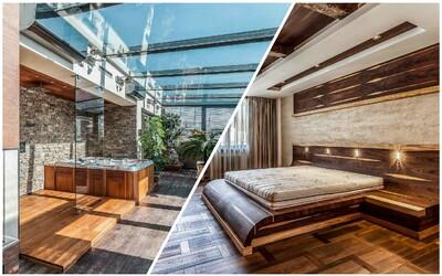 Luxus za více než 25 milionů korun z Prahy s terasou a zimní zahradou
