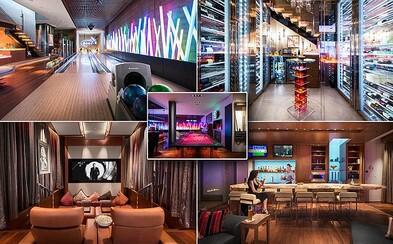 Luxusní sídlo v poušti u Las Vegas za 11 milionů eur má vlastní bar, bowlingové dráhy nebo 2 kina