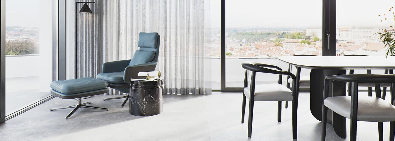 Luxusný apartmán ako vystrihnutý z amerických filmov. Našli sme najkrajšie bývanie v Karlíne
