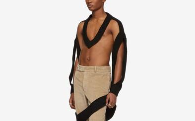 Maison Margiela opäť nesklamal. Atypický sveter za takmer 1000 dolárov disponuje viac dierami ako samotnou látkou