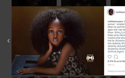 Malé 5leté děvčátko z Nigérie označují za nejkrásnější na světě