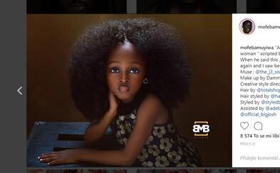 Malé 5-ročné dievčatko z Nigérie označujú za najkrajšie na svete. Jare chcela fotografka zachytiť medzi detstvom a dospelosťou