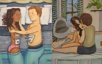Maličkosti jsou ve vztazích to nejkrásnější. Roztomilé ilustrace tě vezmou za oponu, kde se odehrávají ty nejintimnější momenty