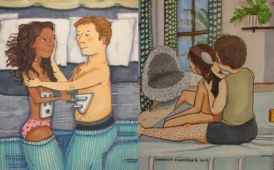 Maličkosti sú vo vzťahoch to najkrajšie. Roztomilé ilustrácie ťa zoberú za oponu, kde sa odohrávajú tie najintímnejšie momenty