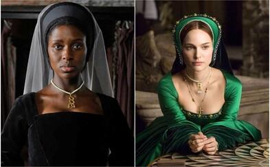 Manželku Jindřicha VIII. Tudora ztvární černošská herečka. V seriálu změnili barvu pleti historické osobnosti