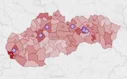 MAPA: 23 nových prípadov koronavírusu je rozlezených po celom Slovensku, najhoršie je na tom Bratislava