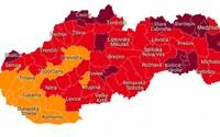 MAPA: Pribudnú bordové okresy, v ktorých budú mať zaočkovaní výhody, červených bude až 43