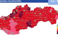 MAPA: Slovensko sa posúva do červenej fázy, v týchto okresoch sa musíš dať pravidelne testovať do práce