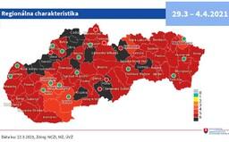 MAPA: Vláda schválila nové rozdelenie okresov podľa aktuálnej rizikovosti. Slovensko naďalej zostáva v čiernej fáze