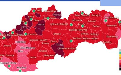 MAPA: Vo väčšine okresov Slovenska sa od pondelka netreba preukazovať testom. Vracia sa aj kultúra
