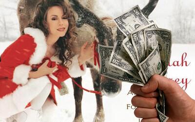 Mariah Carey vydělá každé Vánoce pořádný balík. Díky hitu All I Want For Christmas Is You nemusí ani hnout prstem