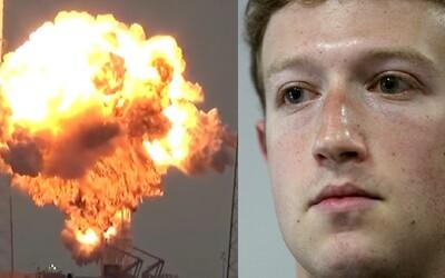 Mark Zuckerberg je poriadne sklamaný. Raketa SpaceX s jeho satelitom za 200 miliónov dolárov explodovala