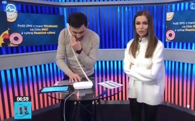Markíza vysvetľuje vulgarizmus v živom vysielaní Telerána. Diváčke vraj predtým viackrát volal anonym