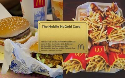 Máš šanci vyhrát zlatou kartu do McDonald's, díky které budeš mít jídlo do konce života zdarma