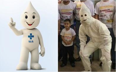 Maskot očkování v Brazílii čelí kritice. Vypadá prý jako člen Ku-klux-klanu
