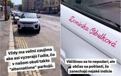 """Matka Dominiky Cibulkovej zrejme takto """"alternatívne"""" parkuje v centre Bratislavy, tvrdí Michal Kovačič. Exposlankyňa to popiera"""