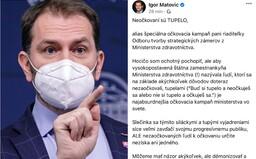Matovič útočí na vysokopostavenú úradníčku ministerstva zdravotníctva: Verím, že toto tupelo pôjde kade ľahšie svinským krokom