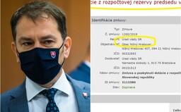 Matovič uvoľnil 15-tisíc eur z rezervy predsedu vlády pre obec, kde je starostkou pani Pčolinská, matka poslanca a exriaditeľa SIS