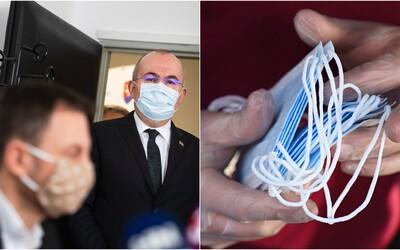 Matovič v marci kritizoval Pellegriniho za prázdne sklady s respirátormi. Prázdne však boli aj na jeseň