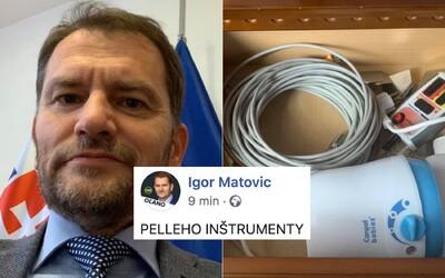 """Matovič zdieľal fotku súkromných vecí Pellegriniho.""""Nejaký gélik vo flaštičke, nejaké kábliky"""" vymenúva zabudnuté predmety"""