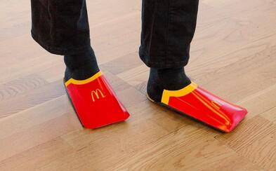 McDonald's vtipne paroduje obuv od Balenciaga