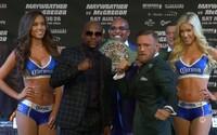 McGregor odkazuje Mayweatherovi, že ho rozbije. Na poslednej tlačovke nechýbali ostré slová ani špeciálny opasok