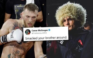 McGregor zesměšnil Nurmagomedova bratra a chlubil se, jak mu vrazil. Khabib mu odpověděl výmluvným videem