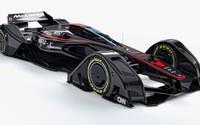 McLaren predstavil vzrušujúci koncept Formule 1 z budúcnosti. Nemala by klasický volant, spaľovací motor a F1 by bola opäť atraktívnou
