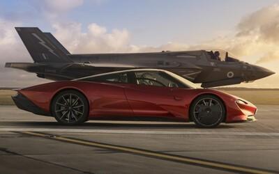 McLaren Speedtail si to v Top Gear rozdal so stíhačkou F-35. Kto sa stal víťazom?