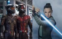 Medzi snímkami Star Wars VIII a Star Wars IX sa možno dočkáme časového skoku a britskí diváci uvidia dvojku Ant-Mana s mesačným omeškaním
