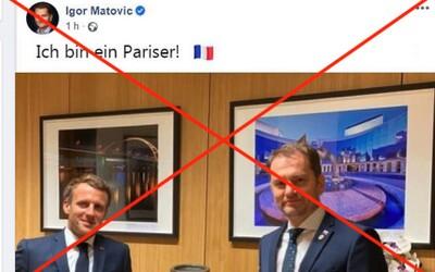 """Meme obrázok """"Ich bin ein Pariser!"""" o Matovičovi vyhodnotili ako hoax. Uťahuje si zo znalostí cudzích jazykov premiéra"""