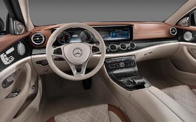 Mercedes odhaluje dominantu zcela nové třídy E, nadstandardně luxusní a komfortní interiér