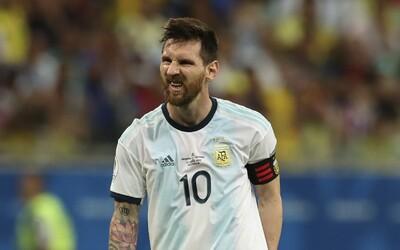 Messi dostal v zápase o bronz na Copa América červenú kartu, praskli mu nervy a pustil sa do strkanice