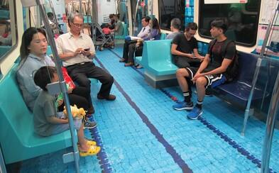 Mesto Tchaj-pej originálne spropagovalo blížiacu sa univerziádu. Z metra sa stala pútavá reklama