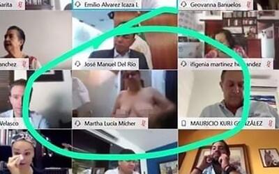 Mexická senátorka si zapomněla během videohovoru vypnout kameru. Její kolegové několik minut sledovali, jak se sprchuje