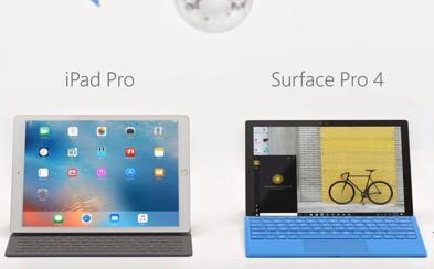 Microsoft útočí na Apple a jeho iPad Pro. Pridanie klávesnice vraj laptop nenahradí