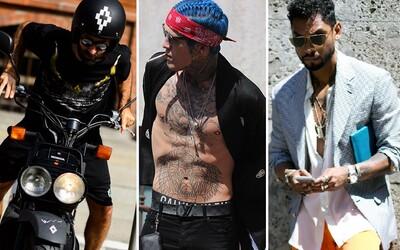 Miguel, Marcelo Burlon a množstvo ďalších sa prišlo pochváliť svojim outfitom do ulíc Milána počas Fashion Weeku