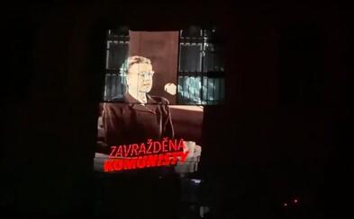 Miladu Horákovou v noci promítali na sídlo KSČM