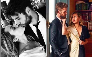 Miley Cyrus a Liam Hemsworth se vzali. Svatbu potvrdili roztomilými fotkami
