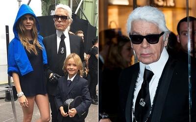 Miliony majetku Karla Lagerfelda by mohl zdědit i jeho kmotřenec. Návrhář kluka zapojil do práce jako dvouletého