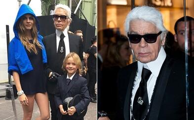 Milióny z majetku Karla Lagerfelda by mohol zdediť aj jeho krstný syn. Návrhár chlapca zapriahol do práce ako dvojročného